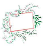 Decorative Floral Template 4 Royalty Free Stock Photo