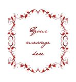 Decorative floral Text panel Royalty Free Stock Image