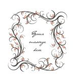 Decorative floral Text panel. Decorative floral ornamental text panel for design Stock Images