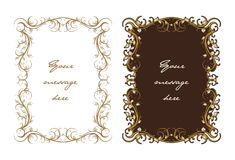 Decorative floral Text panel Royalty Free Stock Photos