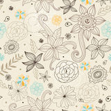 Decorative floral texture Royalty Free Stock Photos