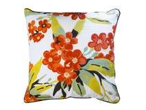Decorative floral throw pillow. Royalty Free Stock Photos