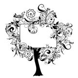 Decorative floral tree, vector Stock Photo