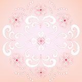 Decorative floral wallpaper. Decorative and abstract floral wallpaper stock illustration