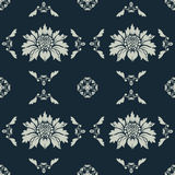 Decorative floral wallpaper Stock Image