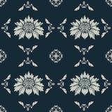 Decorative floral wallpaper. Decorative floral pattern, seamless ornament Stock Image