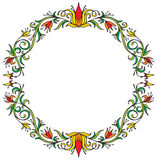 Decorative floral wreath Royalty Free Stock Photos