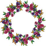 Decorative floral wreath Stock Photography