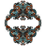 Decorative  flourish  frame on white Royalty Free Stock Photo