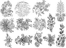Decorative flourish mofifs Royalty Free Stock Photos