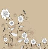 Decorative flower background Royalty Free Stock Photos