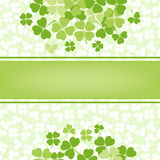 Decorative flower background with clover and place Royalty Free Stock Photos