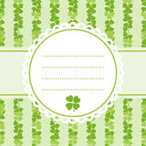 Decorative flower background with clover and place for text Royalty Free Stock Photography