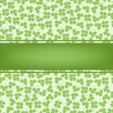 Decorative flower background with clover and place for text Stock Photos