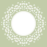 Decorative Flower Background With Clover And Place Stock Photography