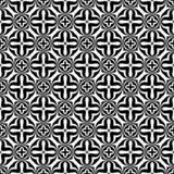 Decorative flower black and white seamless repeated geometric pattern background. Textile, books,str. Seamless,geometric repeated,printing,bed sheet,domestic stock illustration