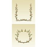 Decorative flower borders Royalty Free Stock Photo