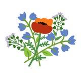 Decorative flower bouquet Stock Photos