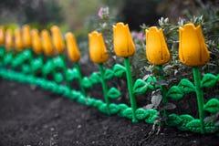 Decorative flower fence Stock Photos