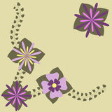 Decorative flower frame. Vector illustration Royalty Free Stock Photos