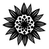Decorative flower icon, simple style. Decorative flower icon. Simple illustration of decorative flower vector icon for web design isolated on white background Vector Illustration