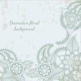 Decorative flower leaf henna background Royalty Free Stock Photography