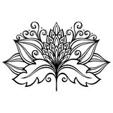 Decorative Flower with Leaves Royalty Free Stock Images