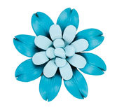 Decorative flower made ​​of leather Stock Photo