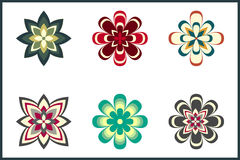 Decorative Flower Pack Royalty Free Stock Photos