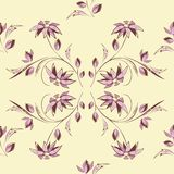 Decorative flower pattern Royalty Free Stock Images