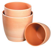 Decorative flower pots Royalty Free Stock Image