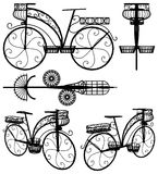Decorative Flower Stand Rack Bicycle Vector Stock Photos