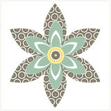 Decorative flower. Vector element. Stylish flower for your abstract designs. Vector Image Stock Photos