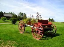 Decorative Flower Wagon Royalty Free Stock Image