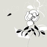 Decorative flowers. Universal template for greeting card, web page, background Royalty Free Stock Images