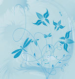 Decorative flowers royalty free illustration