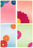 Decorative flowers. Hand drawn illustration Royalty Free Stock Photos