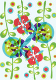 Decorative flowers background pattern Royalty Free Stock Image