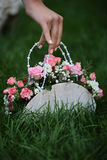 Decorative flowers in bag Stock Photography