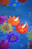 Decorative flowers candles Stock Image
