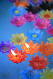 Decorative flowers candles Royalty Free Stock Images