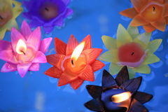 Decorative flowers candles Stock Images