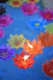 Decorative flowers candles Stock Photos