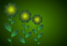 Decorative flowers on a dark background. Stock Image