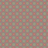 Flowery seamless pattern in gray, red and yellow colors royalty free stock images
