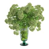 Decorative flowers in full of water vase stock image
