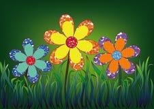 Decorative flowers. Royalty Free Stock Image