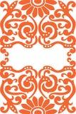 A decorative flowers pattern Stock Photo