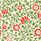 Decorative flowers pattern Royalty Free Stock Images