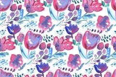 Decorative  flowers seamless  pattern Royalty Free Stock Image